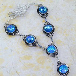 NWOT Rainbow Fish Titanium Necklace